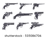firearm set. guns  pistols ... | Shutterstock .eps vector #535086706
