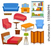 furniture icons vector isolated | Shutterstock .eps vector #535086994