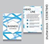 vector brochure flyer design... | Shutterstock .eps vector #535087840