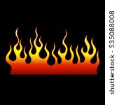 flame tattoo tribal vector... | Shutterstock .eps vector #535088008