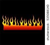 flame tattoo tribal vector... | Shutterstock .eps vector #535088140