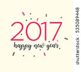 happy new year 2017 background | Shutterstock .eps vector #535089448