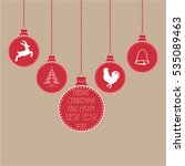 christmas toys with christmas... | Shutterstock .eps vector #535089463