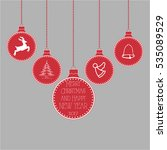 christmas toys with christmas... | Shutterstock .eps vector #535089529
