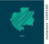 a scribbled map of the gabon.... | Shutterstock .eps vector #535091203
