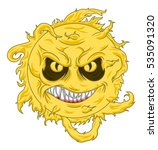 Cartoon Evil Hot Sun