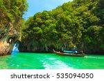 the lagoon of koh hong  krabi... | Shutterstock . vector #535094050