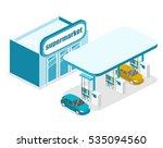 isometric flat 3d concept... | Shutterstock .eps vector #535094560