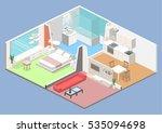 isometric flat 3d concept... | Shutterstock .eps vector #535094698