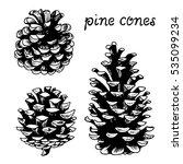 pine cones vector set ... | Shutterstock .eps vector #535099234