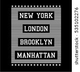 slogan graphic for t shirt  nyc ... | Shutterstock .eps vector #535102276