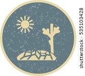 vector drought icon | Shutterstock .eps vector #535103428