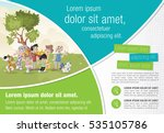 template for advertising... | Shutterstock .eps vector #535105786