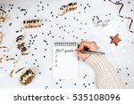 holiday decorations and... | Shutterstock . vector #535108096