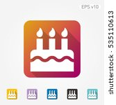 colored icon of cake symbol... | Shutterstock .eps vector #535110613