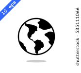 earth icon vector. | Shutterstock .eps vector #535111066