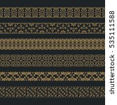 a vector set of art dividers in ... | Shutterstock .eps vector #535111588