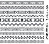 vector set of monochrome... | Shutterstock .eps vector #535112239