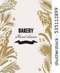 bread design template. vector... | Shutterstock .eps vector #535112899