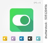 colored icon of switcher symbol ... | Shutterstock .eps vector #535120456
