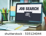 job search icon concept on... | Shutterstock . vector #535124044
