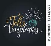 vector feliz cumpleanos ... | Shutterstock .eps vector #535127233