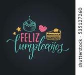 vector feliz cumpleanos ... | Shutterstock .eps vector #535127260