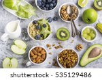 ingredients for a healthy... | Shutterstock . vector #535129486