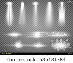 white beam lights set of...   Shutterstock .eps vector #535131784