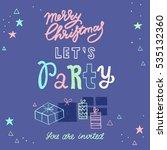 vector christmas party... | Shutterstock .eps vector #535132360