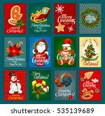 christmas festive card with... | Shutterstock . vector #535139689
