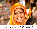 happy indian hindu woman | Shutterstock . vector #535140418