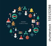 merry christmas flat element... | Shutterstock .eps vector #535152388