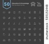 education and knowledge icon... | Shutterstock .eps vector #535152448