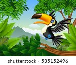 cartoon toucan in the jungle | Shutterstock .eps vector #535152496