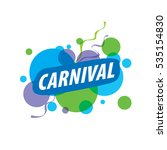 abstract logo carnival | Shutterstock .eps vector #535154830