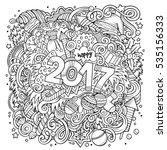 cartoon cute doodles hand drawn ... | Shutterstock .eps vector #535156333