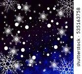winter blue  purple background... | Shutterstock . vector #535163758