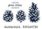 pine cones vector set ... | Shutterstock .eps vector #535164730