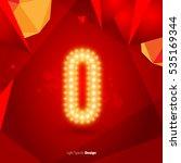 golden glowing vector font on...   Shutterstock .eps vector #535169344