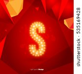golden glowing vector font on...   Shutterstock .eps vector #535169428