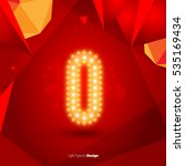 golden glowing vector number on ... | Shutterstock .eps vector #535169434