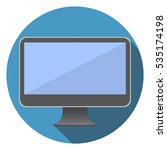 computer screen flat icon... | Shutterstock .eps vector #535174198