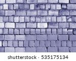 Old Blue Toned Brick Wall...