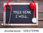 health resolutions concepts ... | Shutterstock . vector #535175998