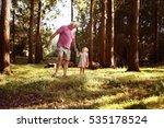 little girl spending time with... | Shutterstock . vector #535178524
