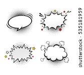 comic empty speech bubbles on...   Shutterstock .eps vector #535181959