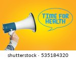 time for health | Shutterstock . vector #535184320