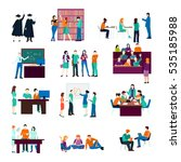 university person collection... | Shutterstock .eps vector #535185988