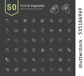 fruit and vegetable icon set.... | Shutterstock .eps vector #535186969